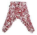 BUDDHA PANTS Unisex Kids Harem Pants Premium Cotton Beige Tribal