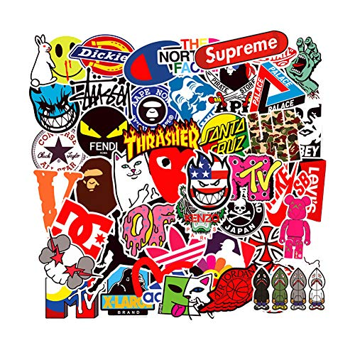 Brand Logo Vinyl Stickers Waterproof for Skateboard Laptop Water Bottle Stickers Motorcycle Bicycle Luggage Computer Helmet Decal Graffiti Patches Stickers for Kids Teens Boys 100PCS Pack (Best Motor Scooter Brands 2019)