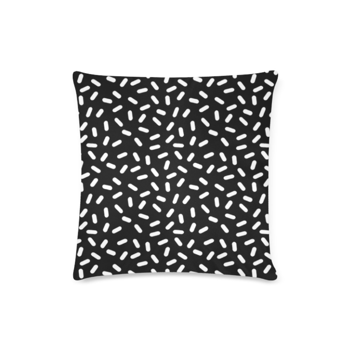 Custom Bingo Black And White Cushion Cases Zippered Throw Pillow Covers 16 by 16 Inches