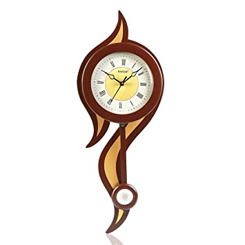 Buy Kaiser Wooden Wall Clock With Pendulum 550x215x65 mm Cola