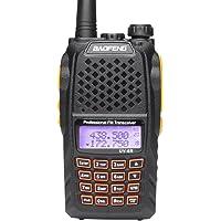 Mengshen® BaoFeng UV-6R Talkie-Walkie Radio Double Bande Better Than UV-5R VHF UHF FM 136-174/400-520MHz Haute Puissance 5W / 1W Jusqu'à 128 canaux Fonction VOX intégrée + Free Ecouteur, BF UV-6R Ou
