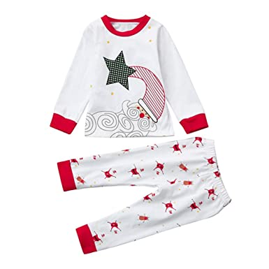 0cc641c869127 Corsion Hot Sale Xmas Newborn Infant Baby Boy Girl Tops+Pants Christmas  Home Outfits Pajamas