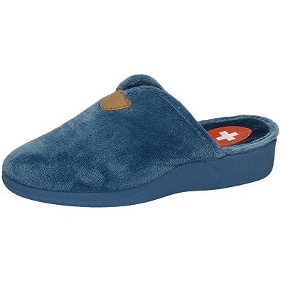 ZAPATOP 603 Chinelas para CASA Mujer Zapatillas CASA AZULÓN 36: Amazon.es: Zapatos y complementos