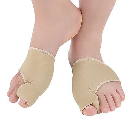 Almohadilla de gel correctora para juanetes, calcetines instantáneos de alivio de juanetes y protector con