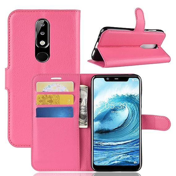designer fashion a2aa5 30641 Amazon.com: Nokia 5.1 Plus Case,Nokia X5 Leather Case,OPDENK ...