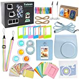 #7: Mini 8 Accessories, 13 in 1 Fujifilm Bundle(Blue Case/Standing Album/strap/Book Album/Colored Filters/Selfie Lens/Wall Hang Frames/Frames/Sticker Borders/Decor Stickers/Alligator Clip Photo Holders)