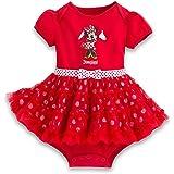 ディズニー (Disney) ミニーマウス フリル ドレス ボディースーツ 赤 Disneyland 70cm (米国サイズ12ヶ月 71-74cm) [並行輸入品]