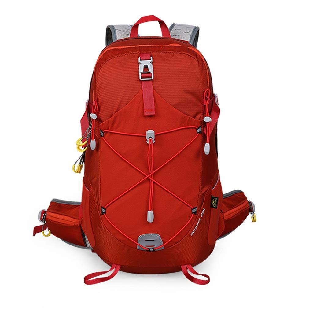 28Lアウトドア登山バッグ男性と女性の毎日の光レジャースポーツサイクリングバックパックハイキングバックパック ZHAOYONGLI (Color : Red, Size : 28L) B07SVD9BDN Red 28L