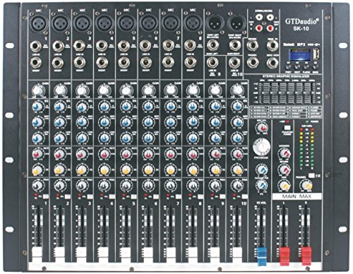 Channel Mixer 10 (GTD-Audio 10 Channel 4000Watt Professional Powered Mixer Amplifier (1000 Watt RMS ))