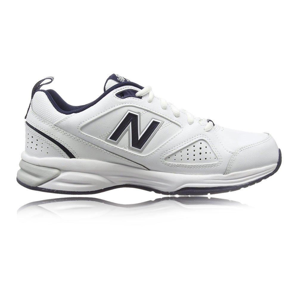 New Balance 624, Zapatillas Deportivas para Interior para Hombre 43 EU|Blanco (White/Navy Wn4)