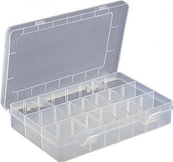Caja de almacenamiento para manualidades con 15 compartimentos, transparente, ajustable, para joyas, organizador de cuentas, caja de almacenamiento: Amazon.es: Bricolaje y herramientas