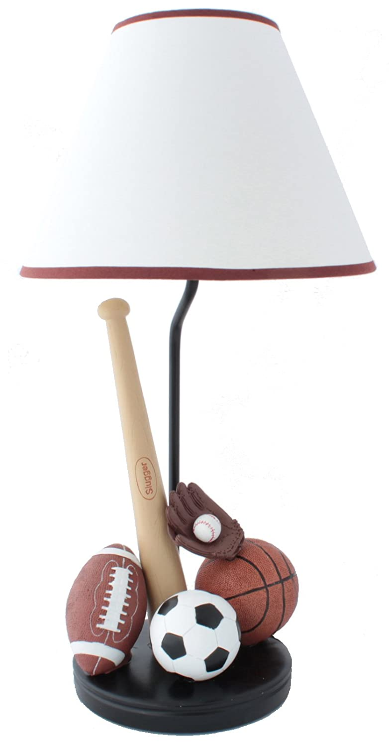 Amazon sports table lamp with matching night light fantastic amazon sports table lamp with matching night light fantastic hand painted details home kitchen mozeypictures Choice Image