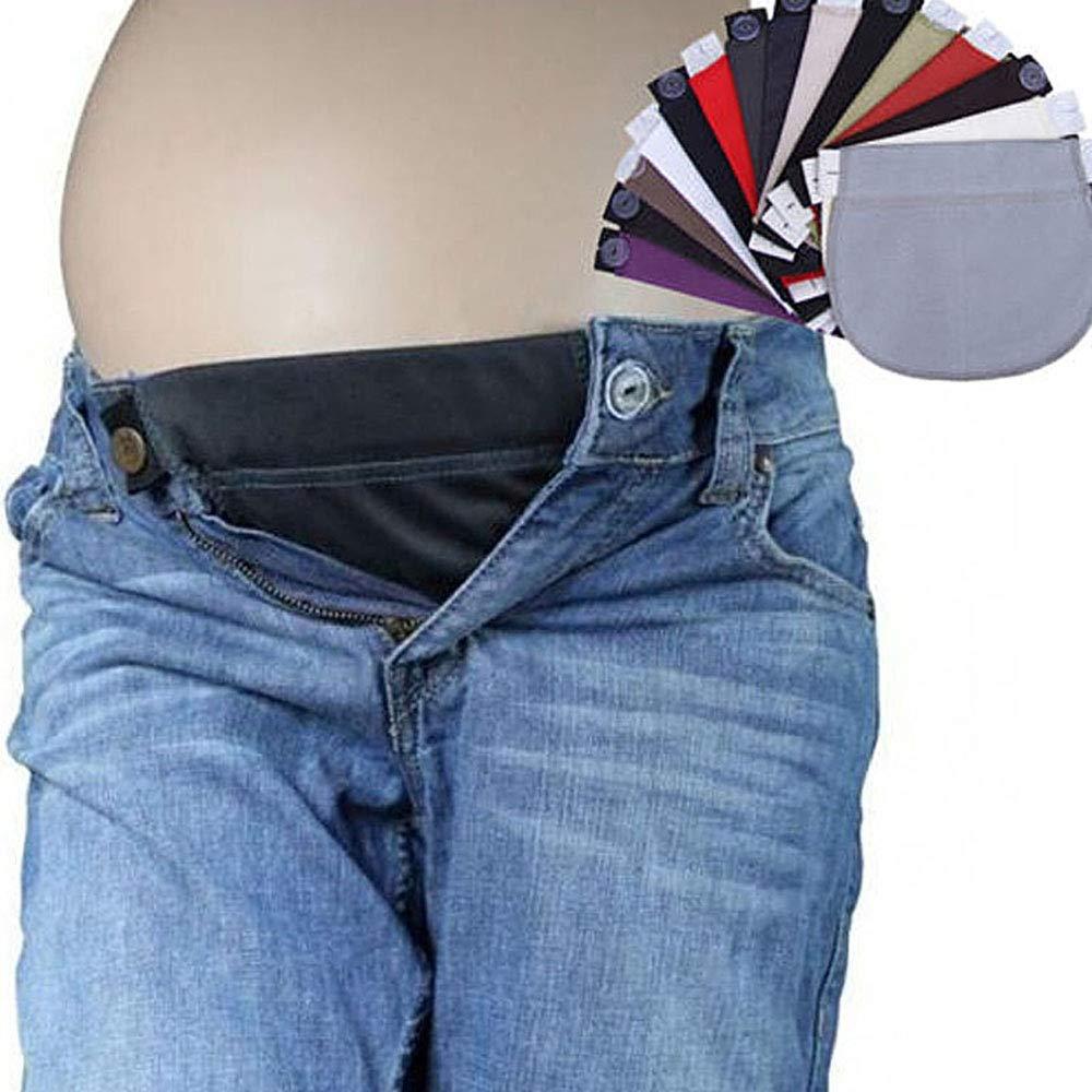 homese 1 St/ücke Taille Extender Elastische hose Mutterschaft Schwangerschaft Bund G/ürtel