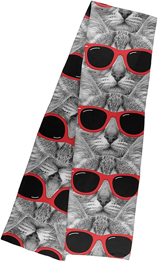 Cats on red Fleece Scarf