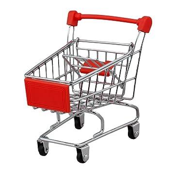 BQLZR Mini Red supermercado carrito de compras utilidad caja de almacenamiento carro bebé juguete: Amazon.es: Juguetes y juegos