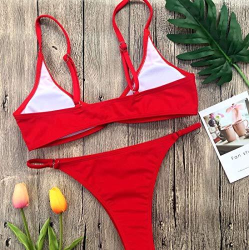 Gules Maillot Nouveau Amérique Europe Bikini Bain Pure coloré De L Et Oudan Taille Couleur PF51xqZdxw