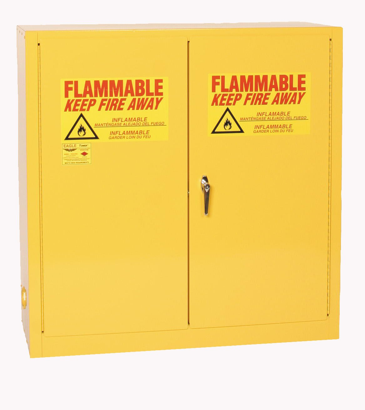 Eagle 1932 Safety Cabinet For Flammable Liquids 2 Door Auto Mobile Lift Wiring Diagram Manual Close 30 Gallon 44height 43width 18depth Steel Yellow Industrial