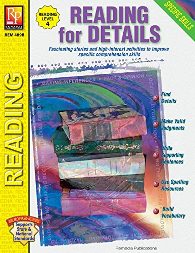Specific Skills Series: Reading for Details (Reading Level 4) | Reproducible Activity Book