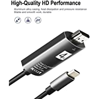 Cellphonez TH Plus USB Type C 3.1 to HDMI 4K HDTV Adapter Cable for MHL Supported Devices, 2m