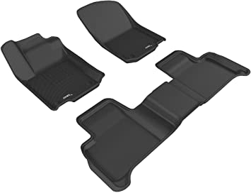 2015 2014 2013 2017 2016 2018 2019 Audi A6 Sedan Black with Red Edging Driver /& Passenger Floor GGBAILEY D50413-F2A-BLK/_BR Custom Fit Car Mats for 2012