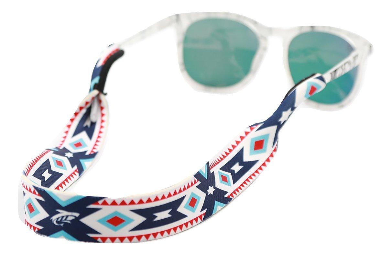 Pilotfish Sunglasses Strap - Floating Neoprene Eyewear Retainer - Sunglass Holder Strap - Custom Design (Aztec) by Pilotfish