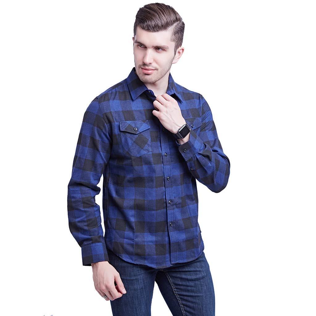 CHENYIHHY Plaid Shirt Winter Flannel Black White Plaid Shirt Men Shirts Long Sleeve Chemise Homme Cotton Male Check Shirts