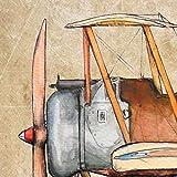 Airplane old paper decor Set 4 prints 8x10 Vintage aviation theme Boys nursery wall art