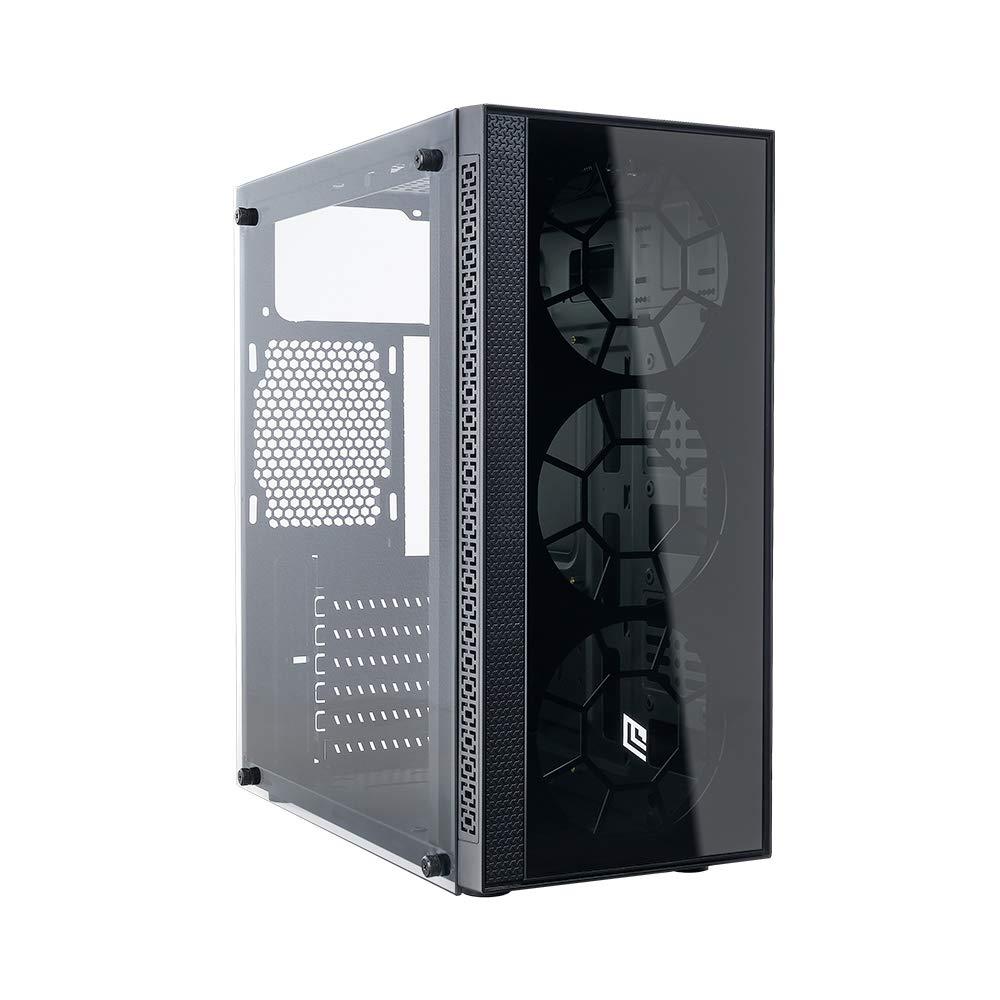 Noua Nexus P9 Black Case ATX per PC Gaming Frontale Tempered Glass 0.50MM SPCC 3*USB3.0/2.0 Pannello Laterale in Vetro Temperato (AxPxL: 420x390x185 mm)