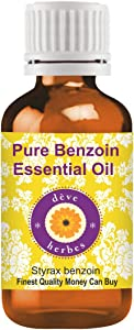 Deve Herbes Pure Benzoin Essential Oil (Styrax benzoin) 100% Natural Therapeutic Grade Steam Distilled 30ml (1.01 oz)