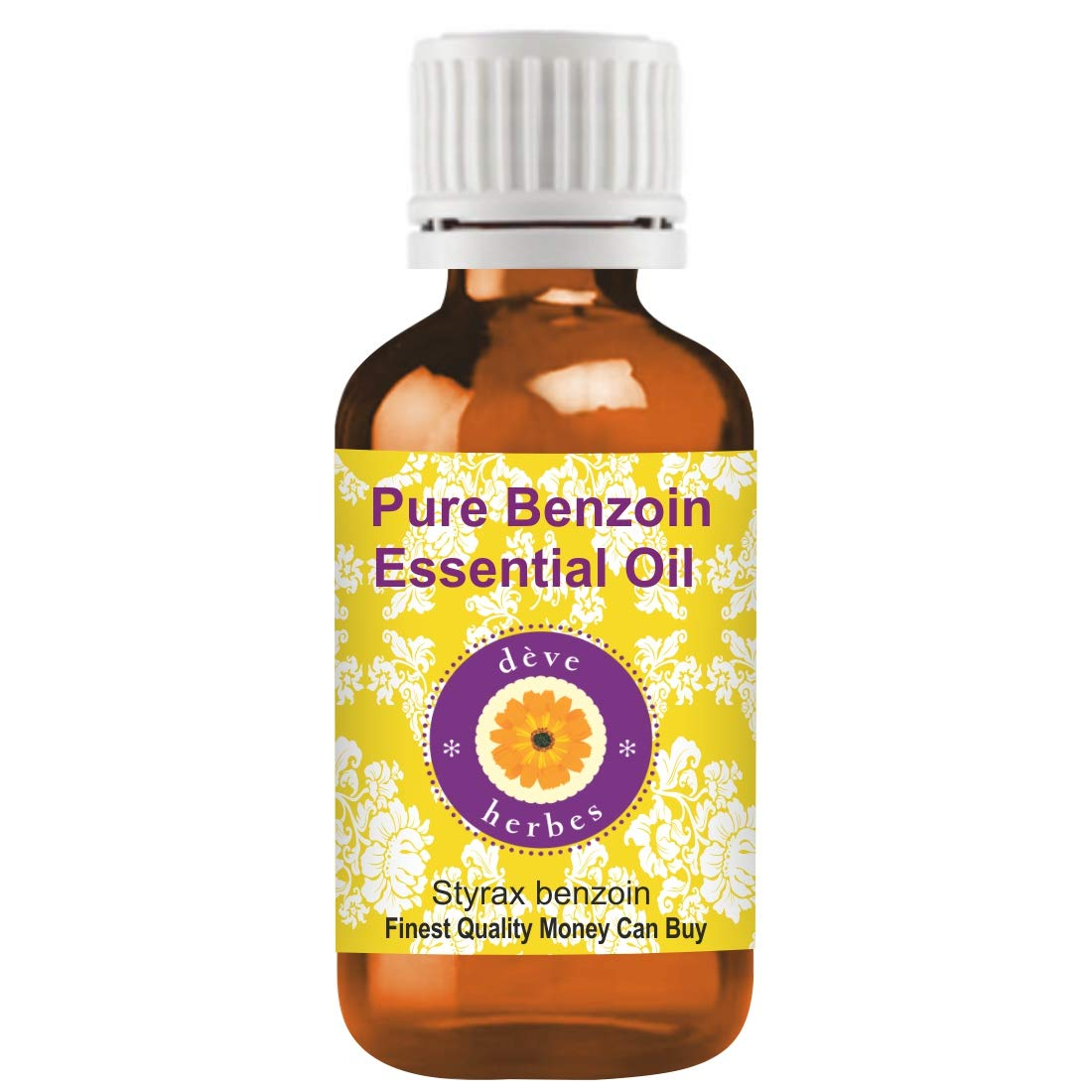 Deve Herbes Pure Benzoin Essential Oil (Styrax benzoin) 100% Natural  Therapeutic Grade Steam