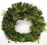 Lighted Christmas Outdoor 36'' Mixed Pine and Pinecone Wreath
