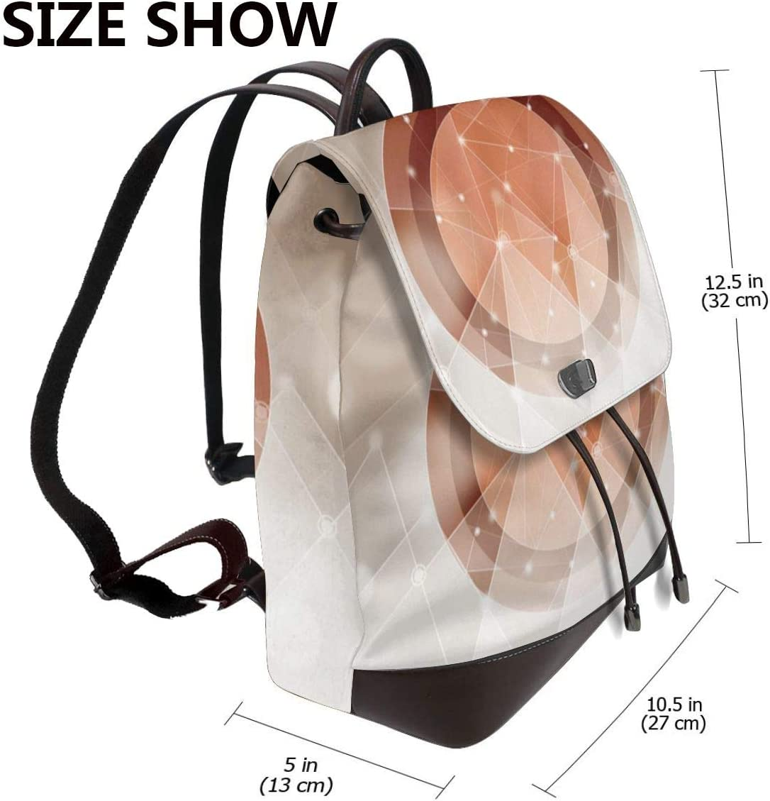Outdoor Bag And Schoolbag Oximing Fantasy Creative Circle Design Vector Graph Womens Leather Shoulder Bag
