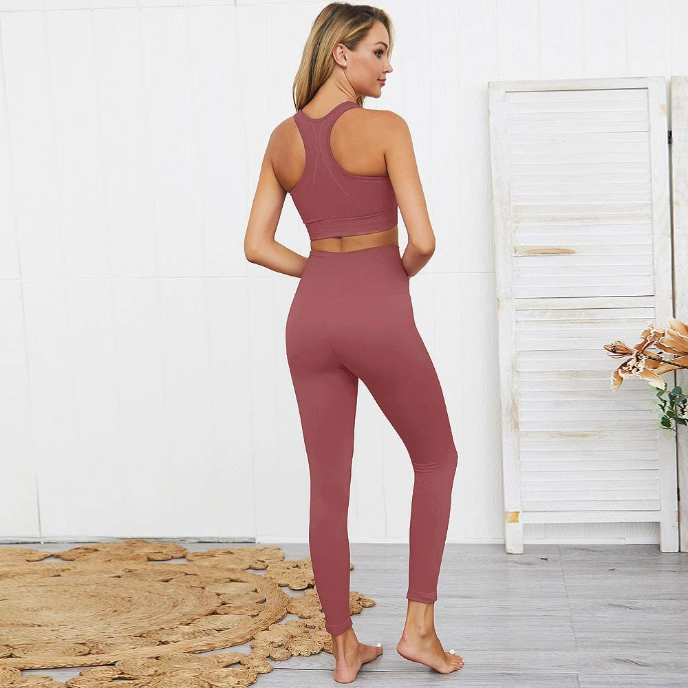Amazon.com: Hotexy - Conjunto de 2 leggings de yoga sin ...