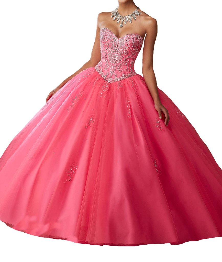 BoShi Women's Sweet 16 Beads Wedding PartyChristmas Quinceanera Dresses 0 US Watermelon by Unknown