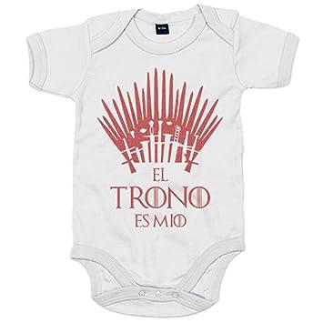 Body bebé Game Of Thrones Juego de Tronos El trono es mío - Blanco, 6-12 meses