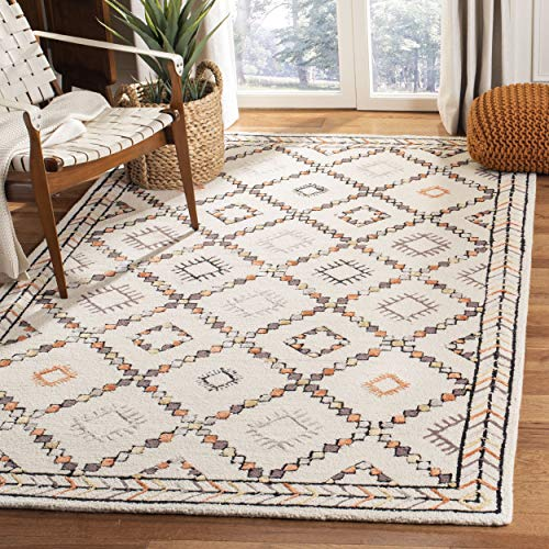 Safavieh Bellagio Collection BLG548A Ivory and Multi Premium Wool Area Rug (8' x - Inch Area X Multi 2'6 10' Rug