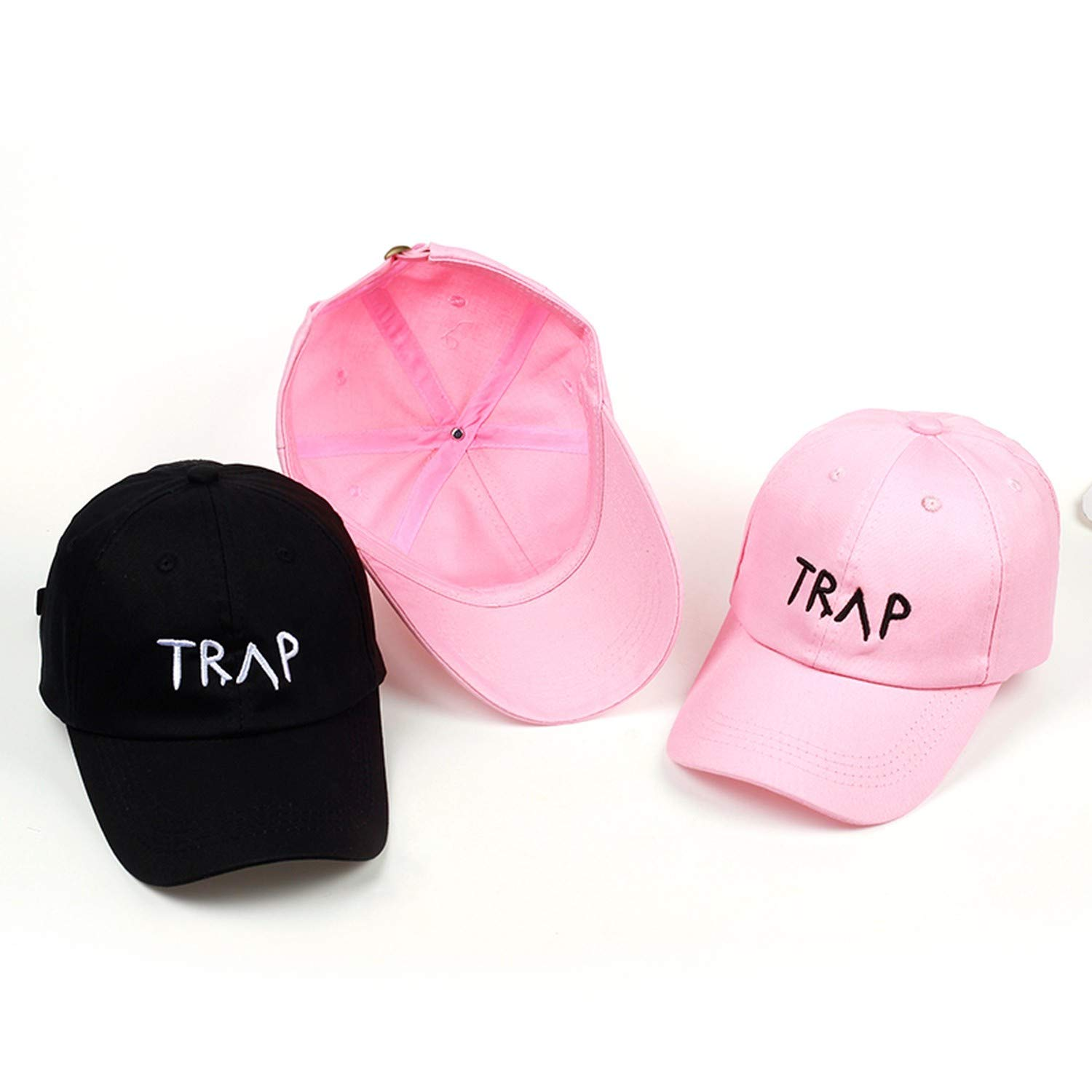 1a4c1959 Amazon.com: 100% Cotton Trap Hat Pretty Girls Like Baseball Cap Trap Music  2 Chainz Album Rap LP Dad Hat Hip Hop Trap Hood Wholesale Custom,Pink A:  Clothing