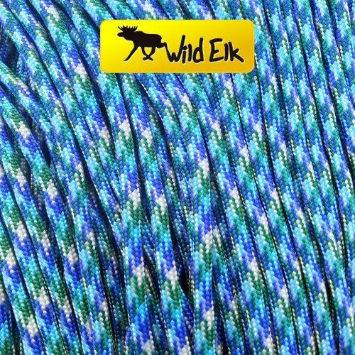 Wild Elk Paracorde Type III 7 brins Qualité commerciale Paon 30,5 m