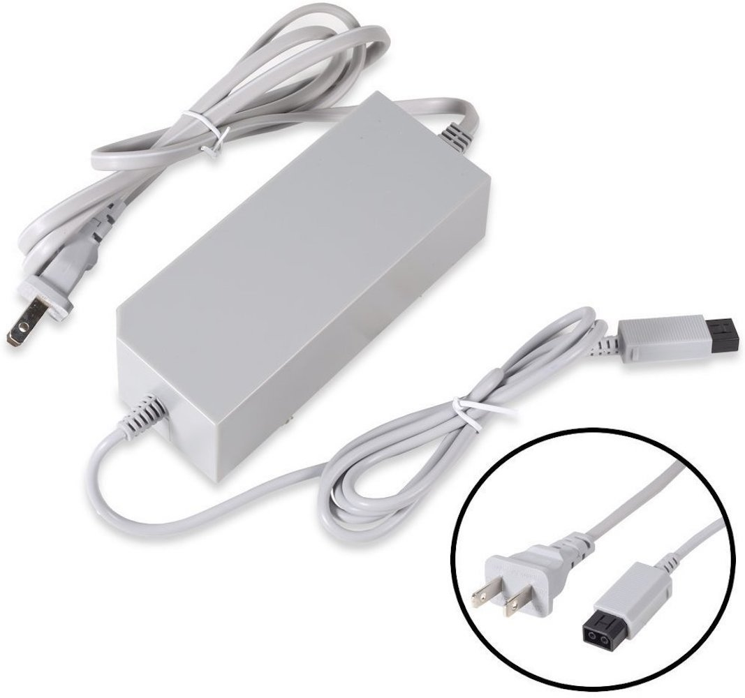 AC Wall Power Supply Cable Cord for Nintendo Wii (Not Nintendo Wii U)