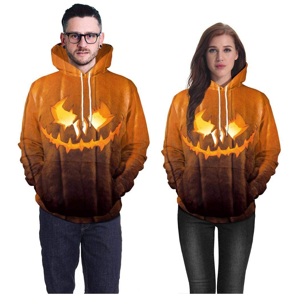 Amazon.com: DEATU Halloween Mens Hot Sale! Teen Men Casual Scary Halloween  Pumpkin Print Party Chic Long Sleeve Hoodie Top Blouse: Clothing