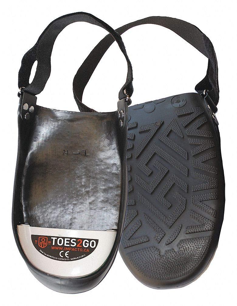 Unisex Overshoe Steel Toe Guard, Steel Toe Type, PVC Upper Material, Black/White, Fits Shoe Size Men by Impacto (Image #1)