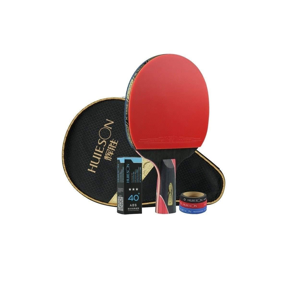 HUIJUNWENTI Five-Star Table Tennis Bat, Single Table Tennis, Horizontal Shot, Pen-Hold Professional Practice Shot Enlightenment Beginner Table Tennis Bat (Size : Pen-Hold) by HUIJUNWENTI