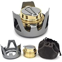 Keweis Portable Outdoor Mini Alcohol Stove Burner Ultralight Camping Cookware Set for Outdoor Camping, Hiking, Backpacking, Picnic