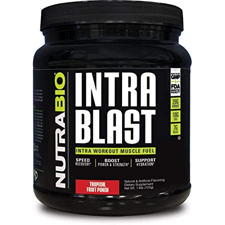 NutraBio Intra Blast – 30 Servings Tropical Fruit Punch