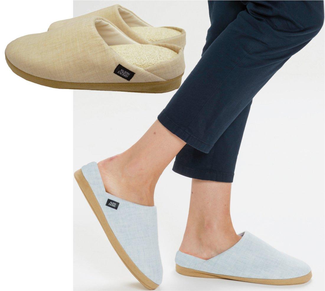 エネタン ルームシューズ爽夏(さわやか) ベージュ色/涼しい夏用スリッパ 室内 靴 くつ (Mサイズ) B01G1TB4N0Mサイズ
