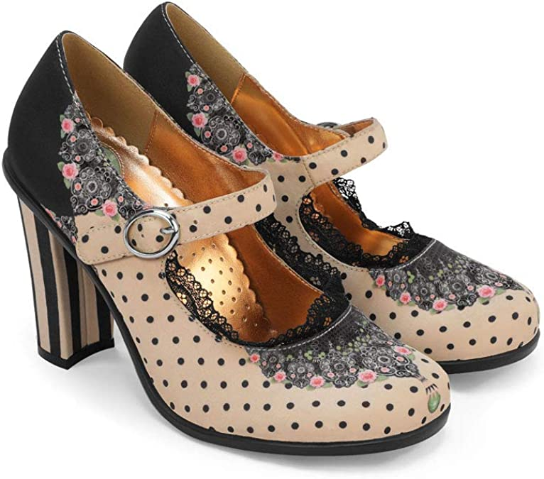 Hot Chocolate Design Chocolaticas Tacones Mary Jane para Mujeres