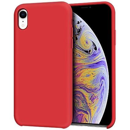 Amazon.com: Anuck iPhone XR Caso, Anti-Slip Liquid Silicona ...