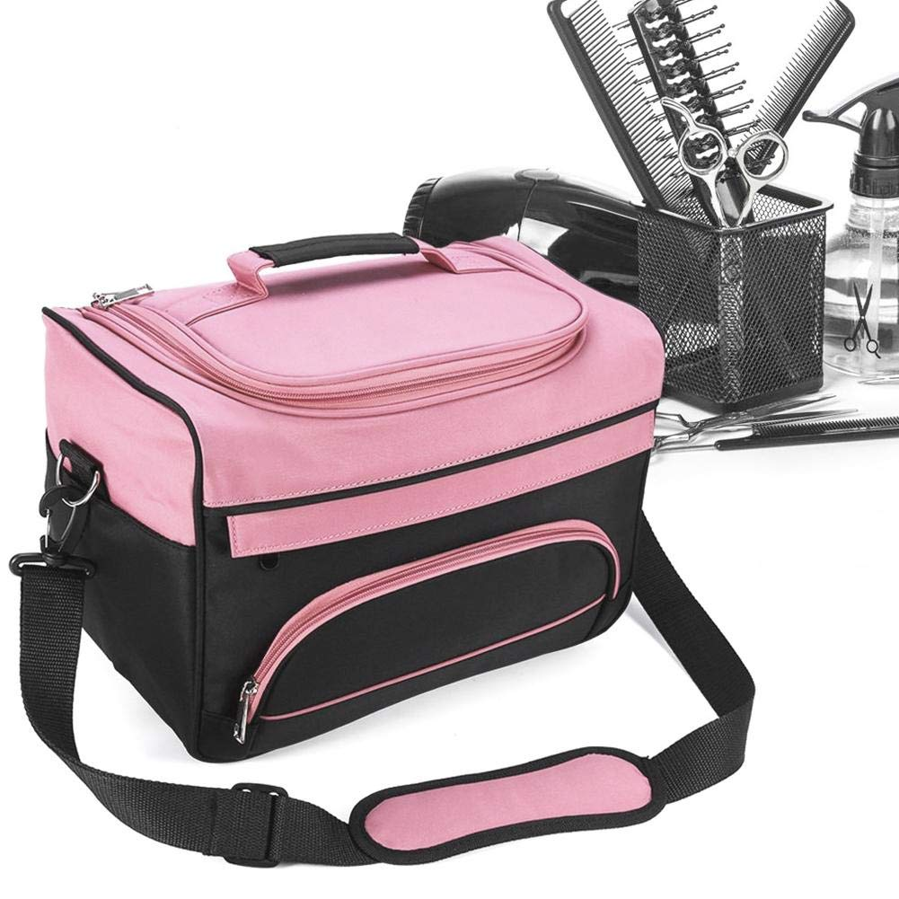 Storage Containers Durable Cosmetics Storage Bag Multi-Functional Hairdressing Tools Carrying Case with Adjustable Strap