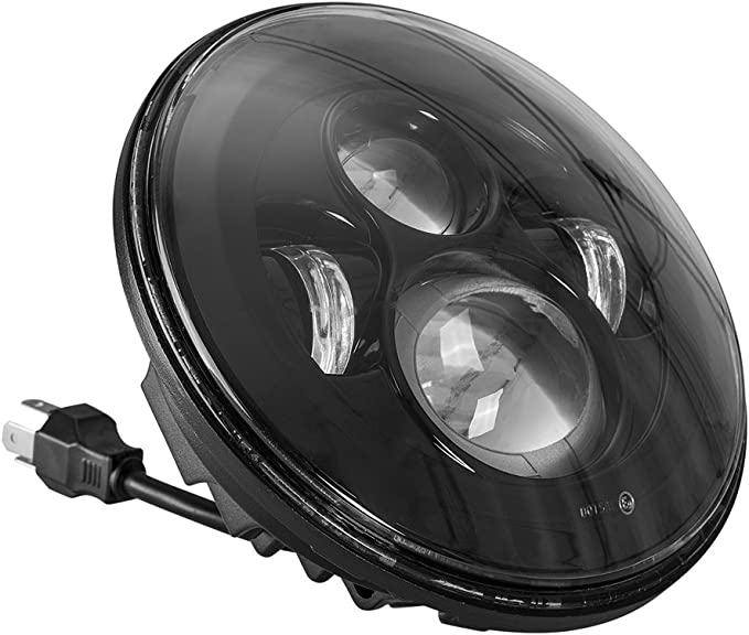 """7/"""" Inch Round LED Headlight Hi-Lo Beam DRL Motorcycle For Harley Softail Fat Boy"""
