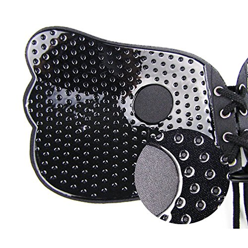 AKABELA-sujetador adhesivo de silicona, reutilizable, para mujer, sin tirantes, invisible, push up, sin espalda, con cordones entrecruzados. Negro Hole